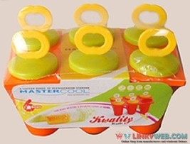 Mastercool Ice Candy Kulfi Maker Popsicle Mould Set Of 6 (COLOR MAY VARY) - $13.13 CAD+
