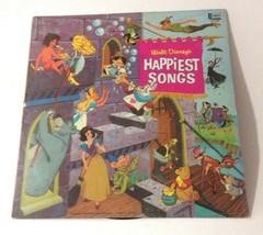Walt Disney's Happiest Songs LP Vinyl Record Vintage 1967 DL-3509 From Gulf - $24.74