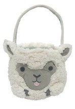 Lamb Green Lined Treat Bag Basket with Handle New - $16.82