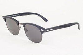 Tom Ford LAURENT 623 02D Matte Black / Gray Polarized Sunglasses TF623-0... - $224.42
