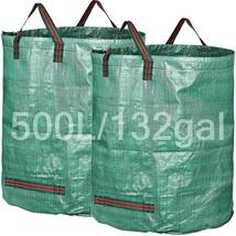 Garden Waste Reusable Bags Yard Clean Up Leaf Holder Carrier 2 Pack 132 ... - $34.99