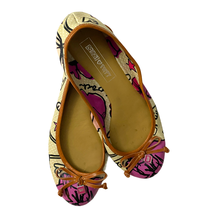 Coach Poppy Pink Beige Ballet Flats Size 6B - $39.26