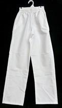 Scrub Pants Meridy's White Elastic Waist L Petite Uniform Bottom Nursing... - $19.37