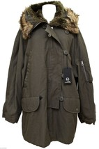 MCQ ALEXANDER MCQUEEN Parka Jacket Coat Grey Army Green Hooded BNWT - $617.50
