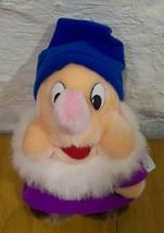 "Vintage Disney Snow White Happy Dwarf 7"" Plush Toy - $15.35"