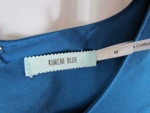 Urban Outfitters KIMCHI BLUE Size M Blue Mini Dress Short Sleeve Zipper Back