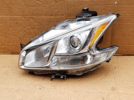 10-14 Nissan Maxima A35 HID Xenon Headlight Driver Left LH POLISHED image 1