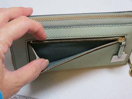 Fossil SL7151336 RFID Emma Smartphone Wristlet Lght Sage wallet clutch leather*^ image 4
