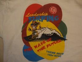 Vintage Leadership Surfing Theme Show Boy Scouts 1994 White T Shirt Size L - $17.81