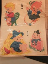 NOS 1950s Duro Decals Nursery Rhymes Humpty Dumpty Jack and Jill - $9.49