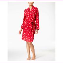 Charter Club Fleece Short Robe in Big Snowflakes, XL - $12.10