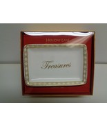 Charter Club TREASURES White Gold Ceramic Tray NEW Christmas Macys Holid... - $34.65