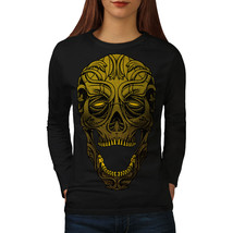 Golden Dead Art Skull Tee  Women Long Sleeve T-shirt - $14.99