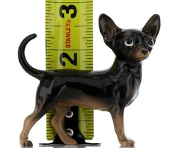 Hagen Renaker Pedigree Dog Chihuahua Large Black and Tan Ceramic Figurine image 2