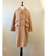 Unbranded Long Tweed Wool Coat Vintage Cutter Crafts Felting Womens 1960s - $9.85