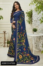 Designer Casual Saree Sari with Blouse Piece Ethnic Wear Bollywood Women... - $121.37