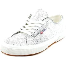 Superga Women's 2750 Crackedleaw Fashion Sneaker, White, 41 EU/9.5 M US - $49.99
