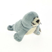 NICI Seal Blue Stuffed Animal Plush Beanbag Magents 5 inches 12 cm - $11.99