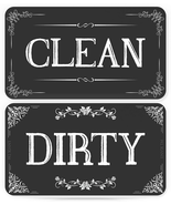 Dishwasher Magnet Clean Dirty Sign Double Sided Magnet Flip With Magneti... - $12.14