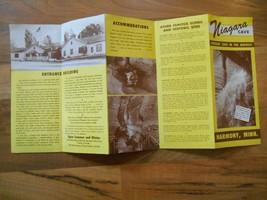 Old Vintage Niagara Cave Largest Midwest Harmony Minnesota Brochure Souv... - $6.99