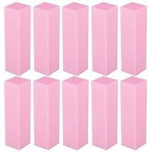Nail Manicure Files 10 Piece Professional Buffering Blocks Pink Pedicure Sanding - $17.27