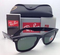New Ray-Ban Polarized Sunglasses RB 2140 901/58 54-18 WAYFARER Black Frame/Green image 11