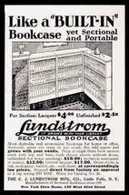 Lundstrom Sectional Bookcase 1931 Furniture AD - $10.99