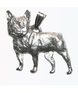 Frenchie French Bulldog Pendant Dog Harris Fine Pewter USA jewelry for n... - $10.99