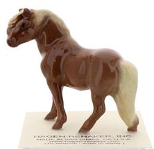 Hagen-Renaker Miniature Ceramic Horse Figurine Chestnut Shetland Pony Stallion