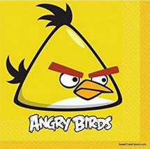 Angry Birds Party Supplies Birthday Animal Napkins Decoration Lunch 16 Pieces Nw - $8.86