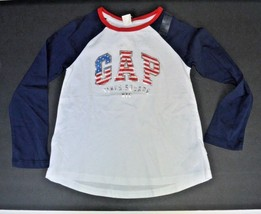 GAP KIDS  NYC Times Square Long Sleeeve Shirt Size 4 or 5 Years USA Logo - $8.99