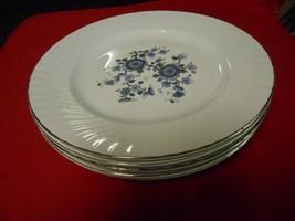 "Beautiful WEDGWOOD ""Royal Blue"" Ironstone-Set of 5 DINNER Plates...10"" diameter - $17.04"