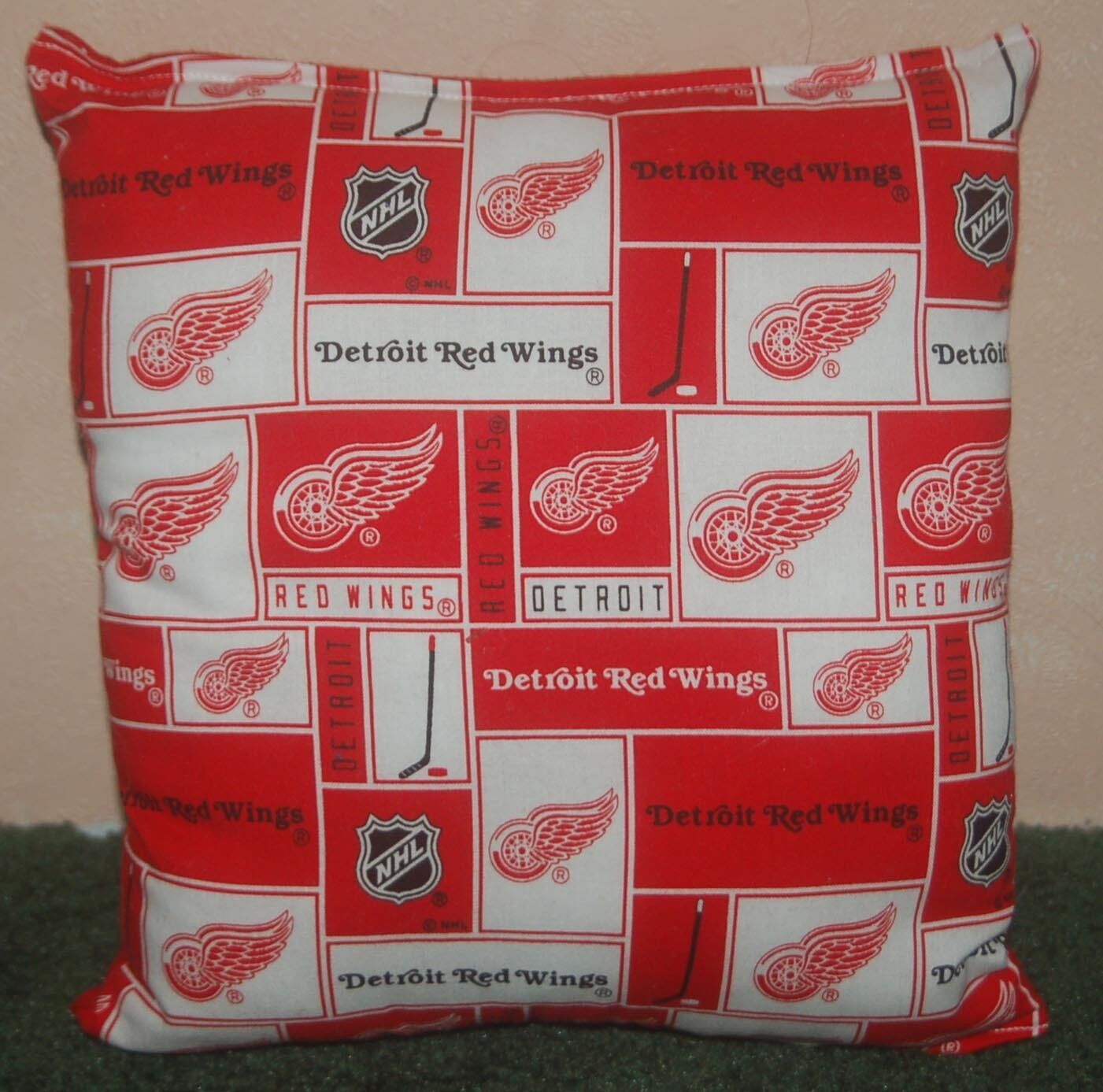 Red Wings Pillow Detroit Red Wings Pillow NHL Handmade in USA