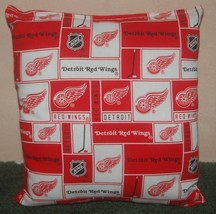 Red Wings Pillow Detroit Red Wings Pillow NHL Handmade in USA - $9.99