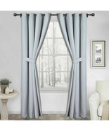 "Silk Home Blackout Curtains, 2-pack Harmony Silver 52""x 84"" - $24.25"