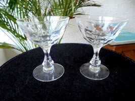 Set of 2 Clear Cut Crystal Champagne Glasses - $24.74