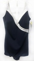 Longitude Sz 16 Navy Blue Nautical Full Coverage No Wire Skirted Womens ... - $26.60
