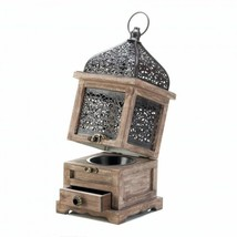 Large Lantern Wood Candle Holder Wedding Centerpieces with Drawer - $15.87