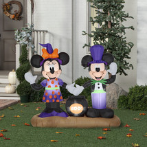 Gemmy Mickey Mouse Minnie Mouse Cauldron Scene Halloween Airblown Inflat... - £109.01 GBP