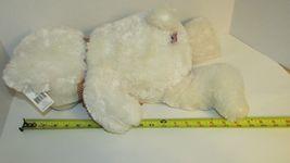 "Ganz Plush large cream stuffed teddy bear brown nose polka dot bow 13-18"" w/ tag image 9"