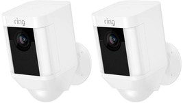 Ring Security Surveillance Bullet Camera Wireless 2-Way Intercom White (2-Pack) - $503.32 CAD