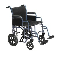 Drive Medical Bariatric Transport Wheelchair Red 20'' - $186.69