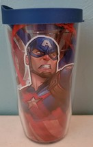 Tervis Captain America Wrap With Travel Lid 16 oz NEW - $17.35