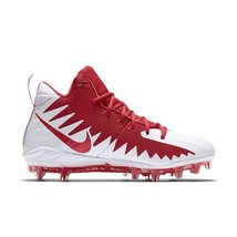 Nike Alpha Menace Pro Mid University Red/White Mens Football Cleats 8714... - $54.95