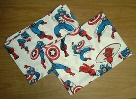 Lot of 2 Pottery Barn Marvel Comics Captain America Pillowcases Pillow Case - $19.75