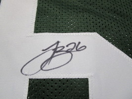 LE'VEON BELL / AUTOGRAPHED NEW YORK JETS GREEN CUSTOM FOOTBALL JERSEY / COA image 4