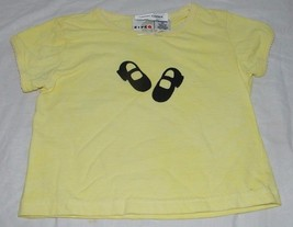 Hand Painted Dyed Shoes Girls Toddler Tee 3T Yellow Cotton Short SLeeve ... - $7.24