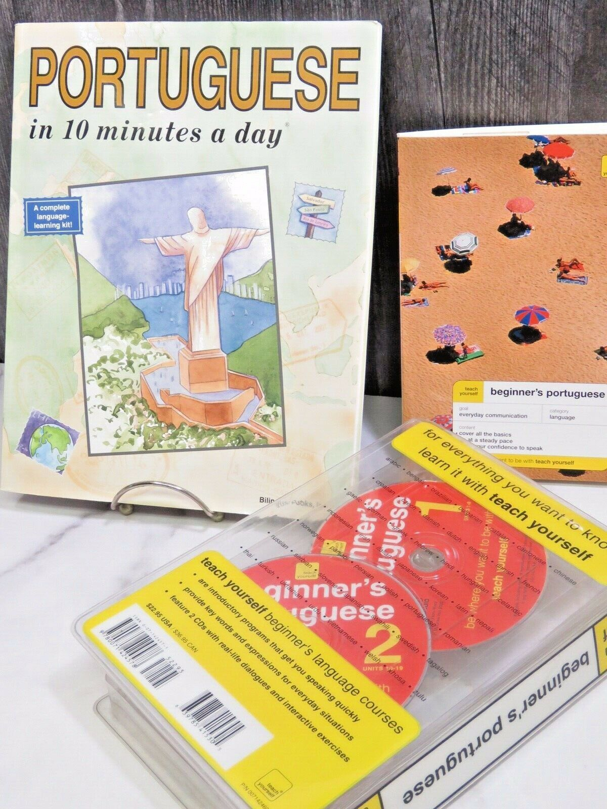 Primary image for Teach Yourself Beginners Potuguese Language 2 Audio Cds and 2 Books