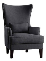 Homelegance Avina Fabric Wingback Chair, Charcoal - $734.19