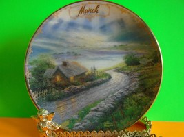 """Thomas Kinkade Simpler Times MARCH - """"Emerald Isle Cottage"""" Plate Excell... - $16.99"""